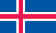 ICELAND - HAND WAVING FLAG (MEDIUM)